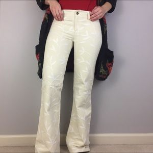 {alice+olivia} embroidered flare pants